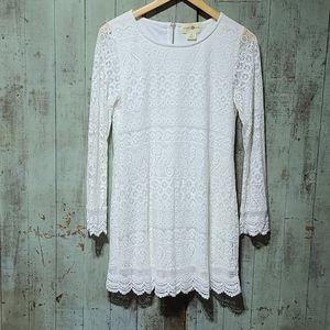 Wishful Park lace overlay long sleeve dress